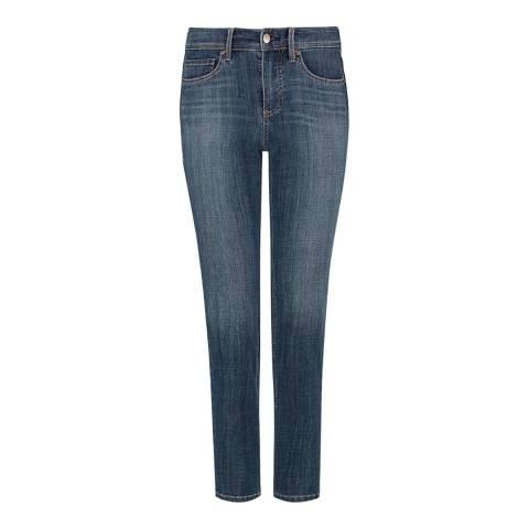 NYDJ Blue Shape Slim Straight Stretch Jeans