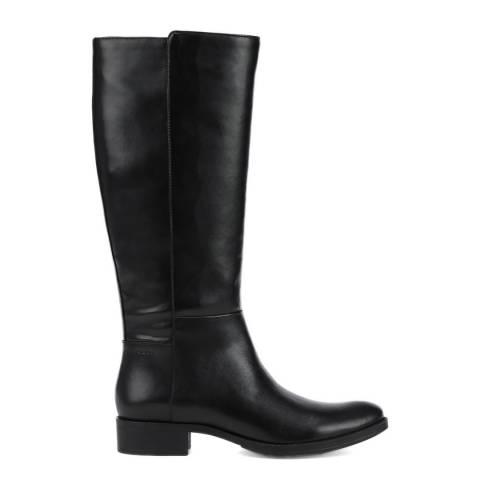 Geox Black Laceyin Knee High Boots