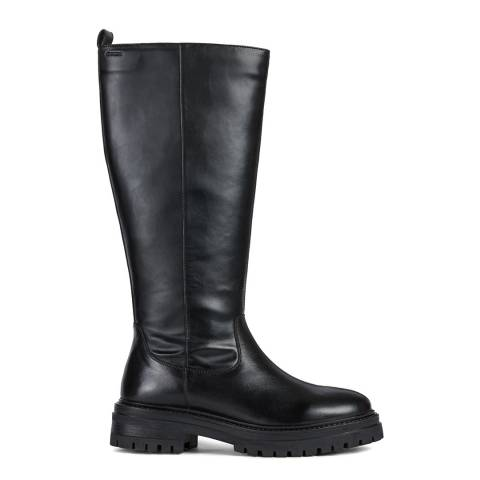 Geox Black Iridea Knee Boots