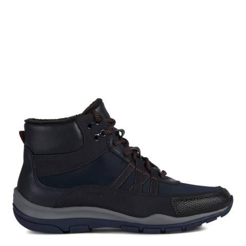 Geox Navy Kander Hiker Style Sneakers