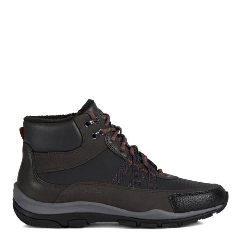 Geox Anthracite & Mud Kander Hiker Style Sneakers