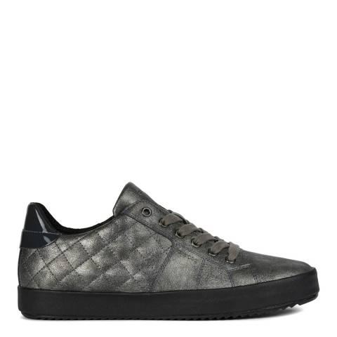 Geox Gunmetal Blomie Low Glitter Sneakers