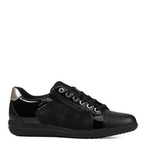Geox Black Nihal Patent Sneakers