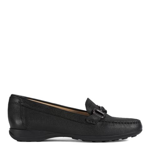 Geox Black Euxo Leather Moccasins