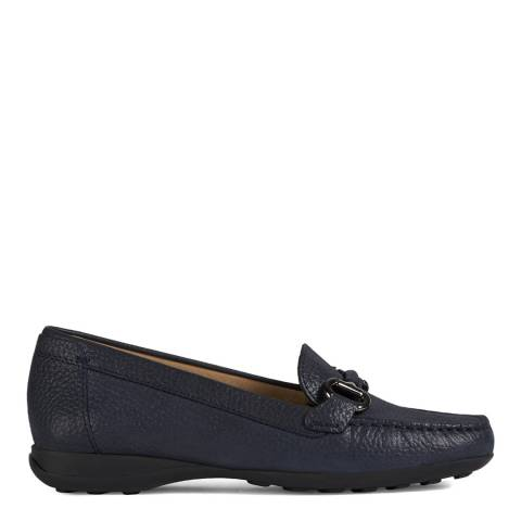 Geox Navy Euxo Leather Moccasins