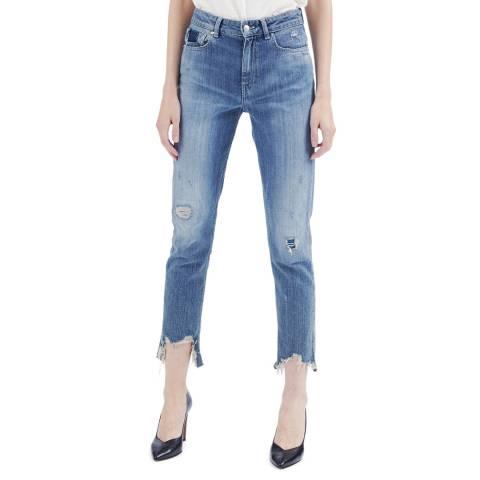 IRO Blue Distressed Vix Jeans