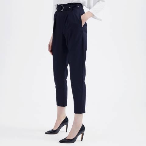 IRO Navy Wana Wool Trousers