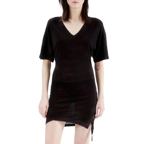 IRO Black Keraba Linen Dress