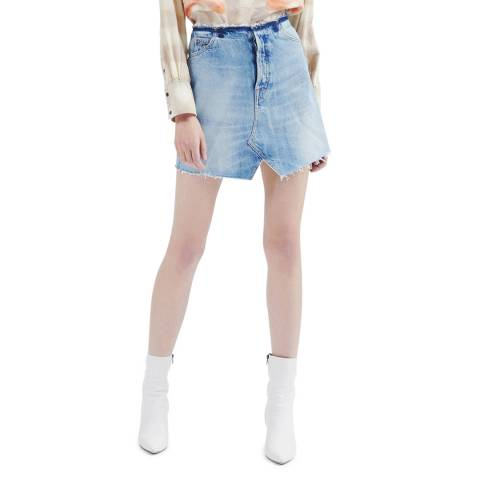 IRO Blue Doris Denim Skirt