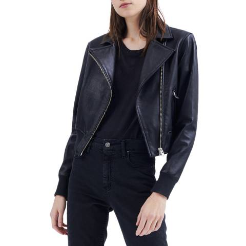 IRO Black Arkos Luxe Leather Jacket