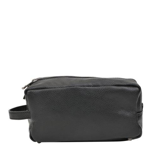 Carla Ferreri Black Leather Cosmetic Bag