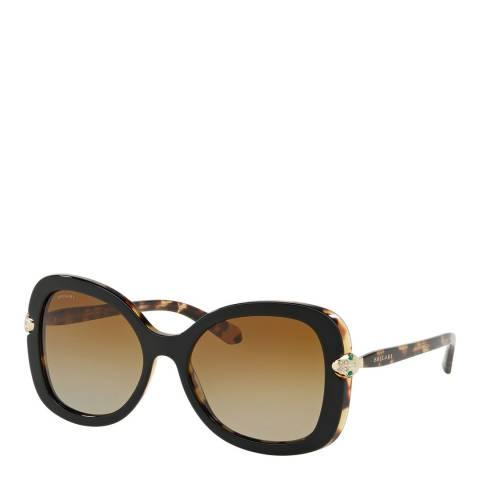 Bvlgari Women's Brown Bvlgari Sunglasses 54mm