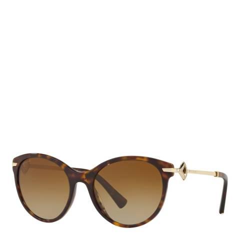 Bvlgari Women's Brown Bvlgari Sunglasses 55mm