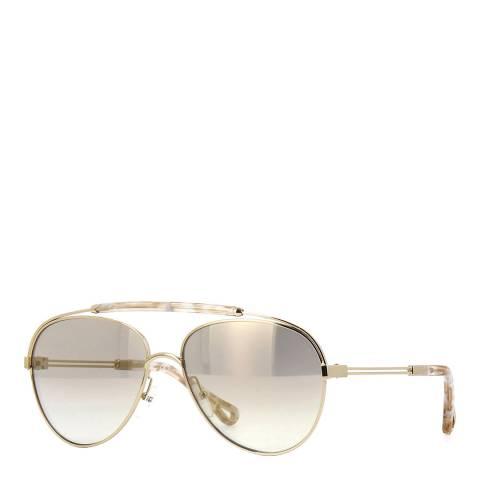 Chloe Unisex Beige Chloe Sunglasses 59mm