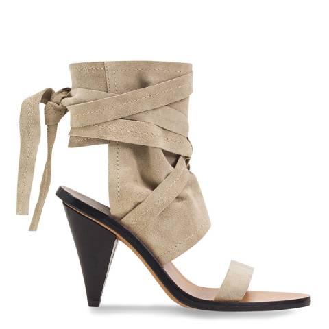 IRO Beige Otero Leather Heeled Sandals