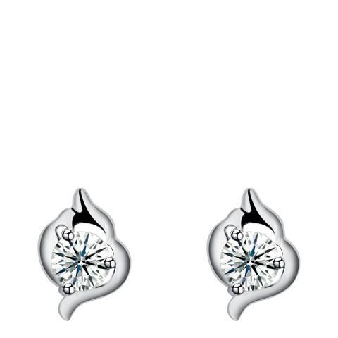 Ma Petite Amie Silver Plated Stud Earrings