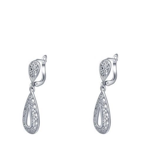 Ma Petite Amie Silver Plated Teardrop Earrings