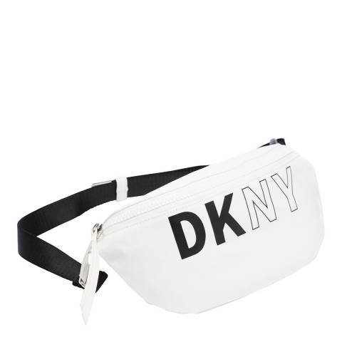 DKNY White Black Zoe Belt Bag
