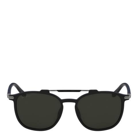 Ferragamo Black Rectangle Sunglasses
