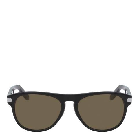 Ferragamo Black Modified Rectangle Sunglasses