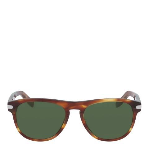 Ferragamo Tortoise Modified Rectangle Sunglasses