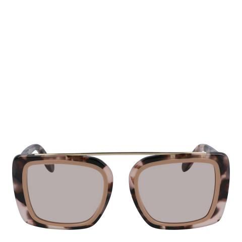 Ferragamo Rose Modified Rectangle Sunglasses