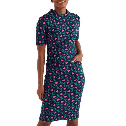 Boden Green Louise Textured Dress