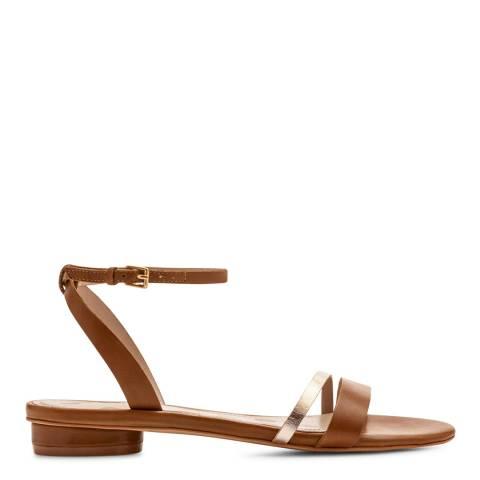 Boden Tan & Gold Freya Sandals