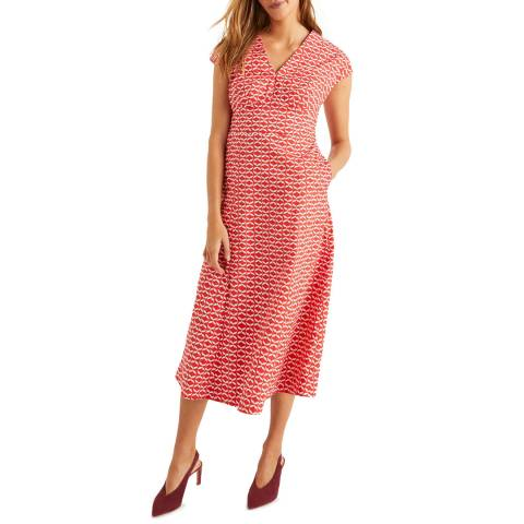 Boden Red Natasha Cotton Dress