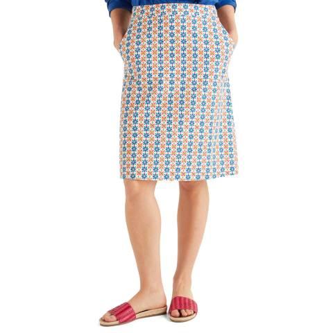 Boden White Francesca A Line Skirt