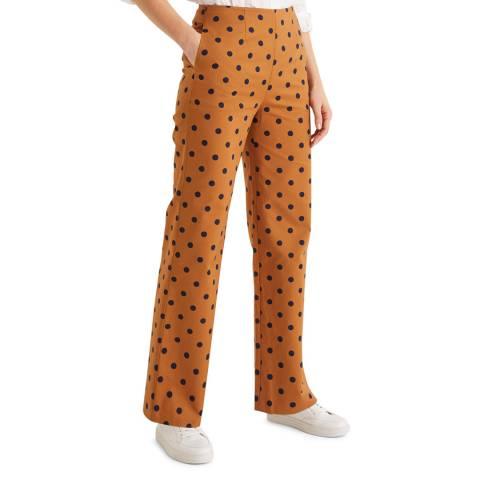 Boden Brown Sloane Wide Leg Trousers