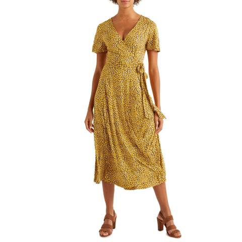 Boden Yellow Cassia Jersey Midi Dress