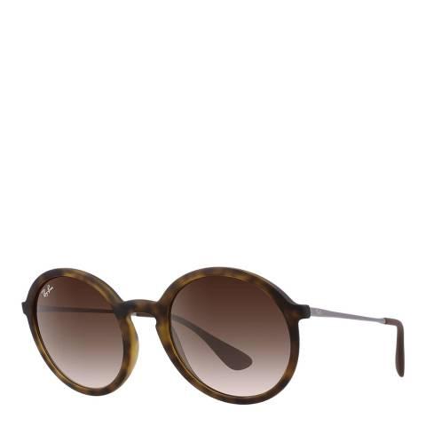 Ray-Ban Unisex Tortoise Gunmetal/Brown Ray-Ban Sunglasses 50mm