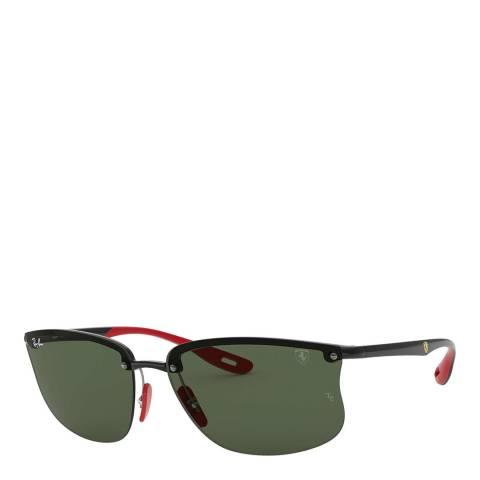Ray-Ban Unisex Black/Green Ray-Ban Sunglasses 63mm