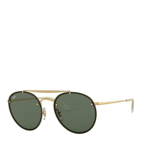 Ray-Ban Unisex Gold/Green Sunglasses 54mm