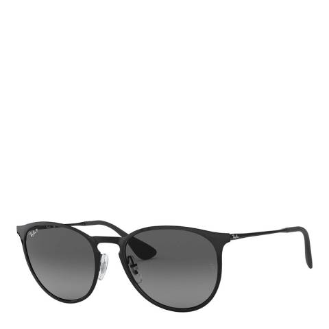Ray-Ban Unisex Polished Black/Grey Ray-Ban Sunglasses 54mm