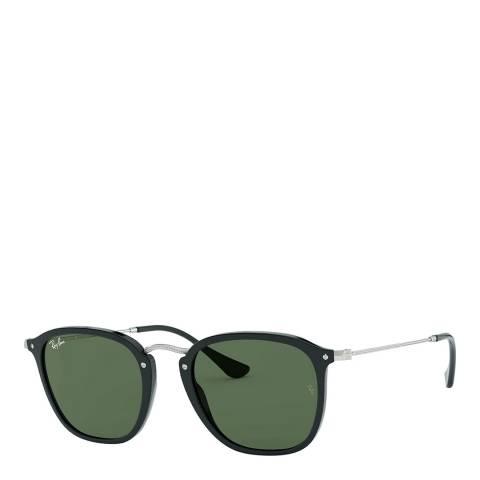 Ray-Ban Unisex Black/Silver/Green Sunglasses 51mm