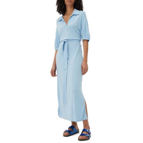 Chinti and Parker Venetian Blue Polo Dress
