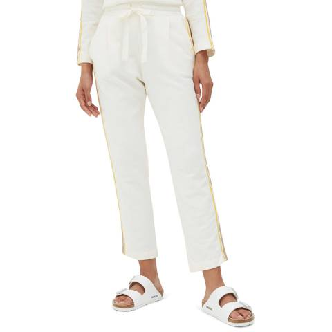 Chinti and Parker Off White Side Stripe Cotton Sweatpants