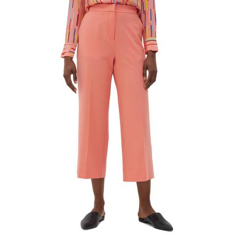 Chinti and Parker Dusty Rose Cropped Wool Blend Trouser