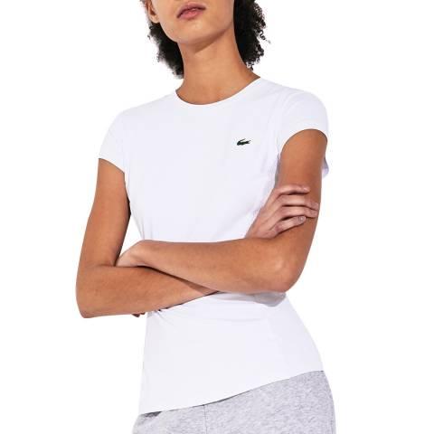 LACOSTE SPORT White Mesh T-Shirt
