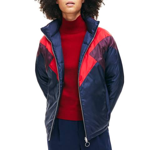 Lacoste Navy/Red Reversible Quilted Jacket