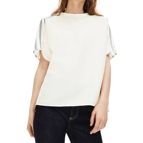 Lacoste Ivory Branded Cotton Top