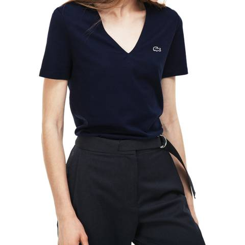 Lacoste Navy Classic Cotton T-Shirt