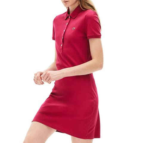 Lacoste Pink Cotton Stretch Polo Dress