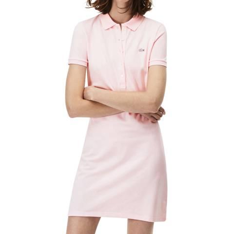 Lacoste Light Pink Cotton Stretch Polo Dress