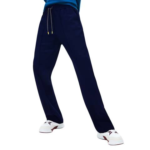 Lacoste Navy Wide Tracksuit Bottoms