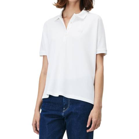 Lacoste White Relax Fit Polo Shirt