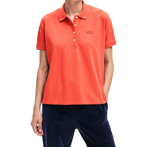 Lacoste Light Red Relax Fit Polo Shirt