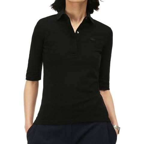 Lacoste Black Half Sleeve Polo Shirt